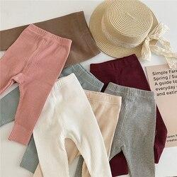 Leggings rayés pour bébés,pantalons pour nourrissons, filles et garçons, style coréen, nouveauté automne2020,