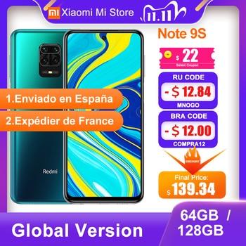 Global Version Xiaomi Redmi Note 9S 4GB 64GB/ 6GB 128GB Smartphone Snapdragon 720G 48MP Camera 6.67'' 5020mAh 18W Charge