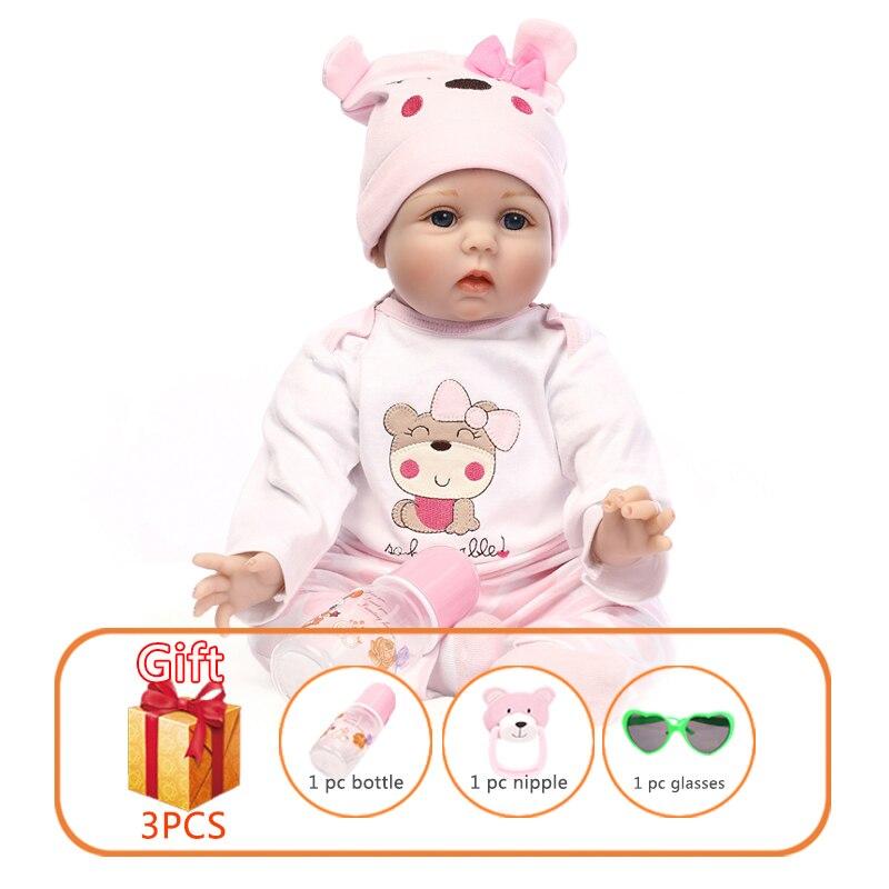 NPK 48/55cm bébé poupées en Silicone Reborn poupées Simulation bébé poupées à la main Reborn bébé coton jouet bambin doux poupées pour les enfants