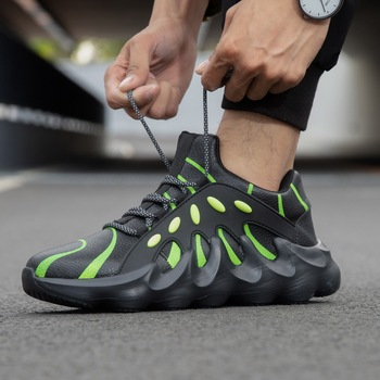 Damyuan scarpe da uomo moda scarpe Casual da uomo Design a lama Sneakers in pelle con fondo spesso per uomo scarpe sportive da uomo all'aperto morbide 1