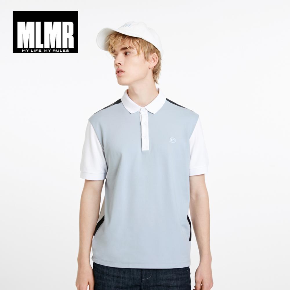JackJones MLMR Men's Contrasting Spliced Turn-down Collar Short-sleeved Polo Shirt|Streetwear 219106531