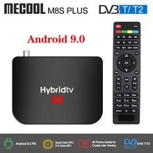 Mecool M8S PLUS Android 9.0 DVB T2 Hybridtvกล่องทีวีAmlogic S905X2 Quad Core 64bit 2GB 16GB 4K 60fps DVB T2 Terrestrial Comboกล่อง