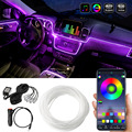 Bluetooth Auto Flexible Lampen Auto Atmosphäre Licht Umgebungs Innen Dekoration App Sound Control Wireless RGB Neon Led Streifen