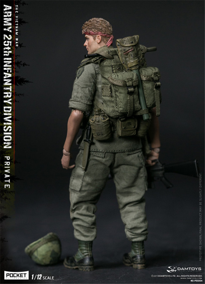 DAMTOYS 1//12th PES004 Army 25th Infantry Division Private The Vietnam War Figure