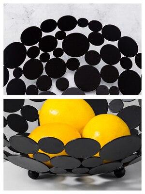 Plateau de fruits lumineux et moderne | Plaque de fruits ménagère personnalité style nordique créatif salon Table basse décoration moderne