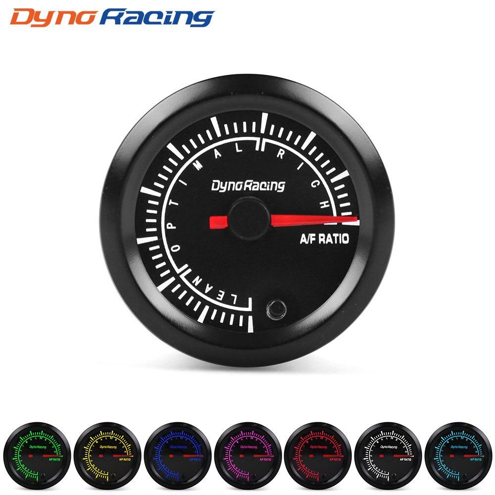 """Dynoracing """" 52 мм 7 видов цветов, высокая скорость, автомобильный наддув, температура воды, температура масла, масло, пресс, воздух, топливо, соотношение вольтметр, EGT, тахометр, Датчик Оборотов - Цвет: Air fuel ratio gauge"""