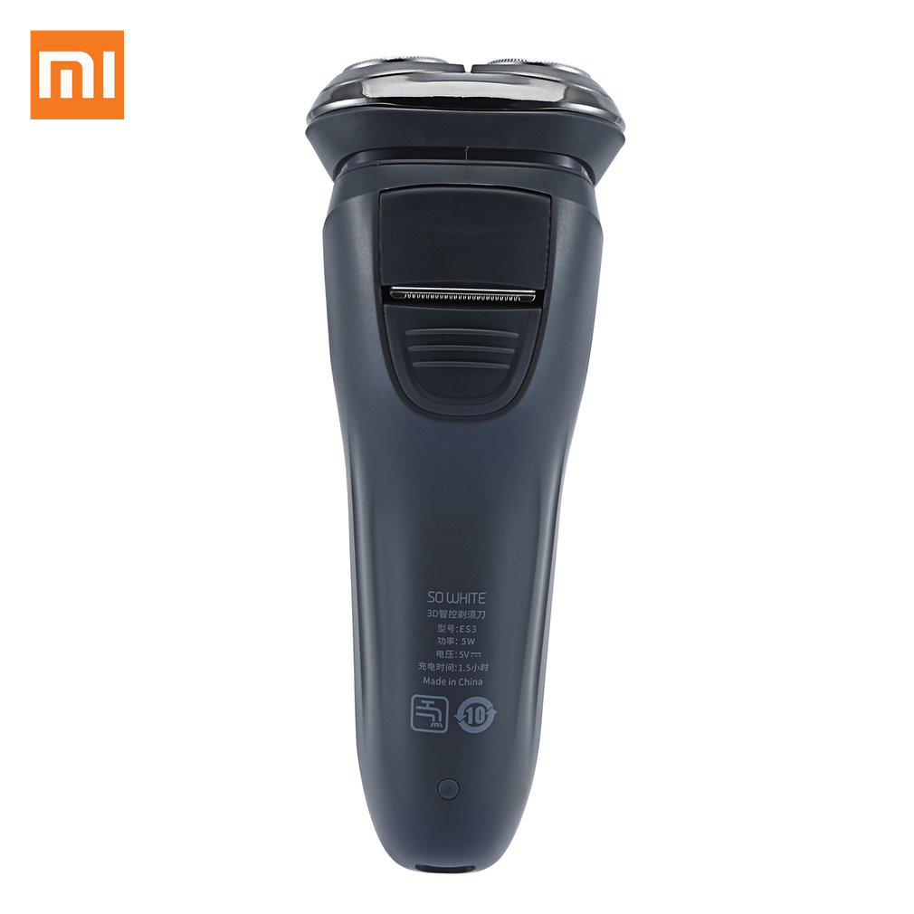Xiaomi Soocas SO WHITE Electric Shaver Razor Men Washable USB Rechargeable 3D Floating Smart Control Shaving Beard Cleaner image