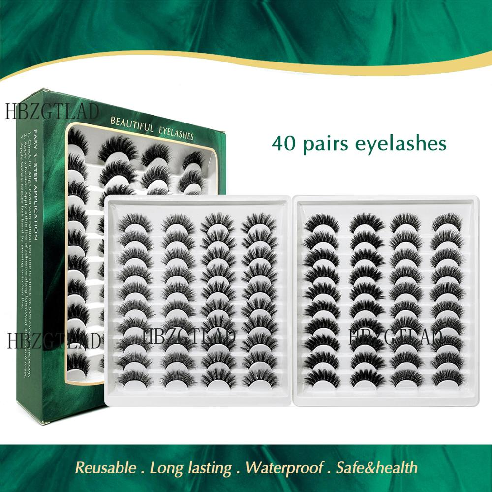15 25mm vison cilios vison estendido beleza maquiagem cilios posticos natural 40 pares de artesanal 3d