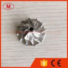 KP31 24.10/35.00mm 6 + 6 블레이드 고성능 터보 밀링/알루미늄 2618/빌렛 컴프레서 휠