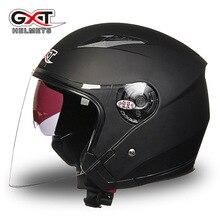 GXT512 мужской и женский мотоциклетный шлем, полушлем, четыре сезона, УФ-защита, Электрический автомобильный шлем