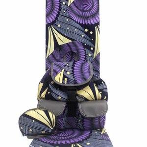 Image 2 - Micle Fashion african wax bag sets 3 pieces/set ankara wax handbag matching 6 yards real best soft new wax fabric