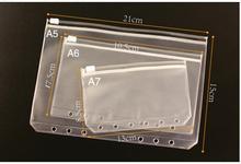 1шт A5 A6 A7 прозрачный ПВХ хранение карта сумка для путешественника записная книжка дневник планировщик молния сумка подача продукты оптовая продажа