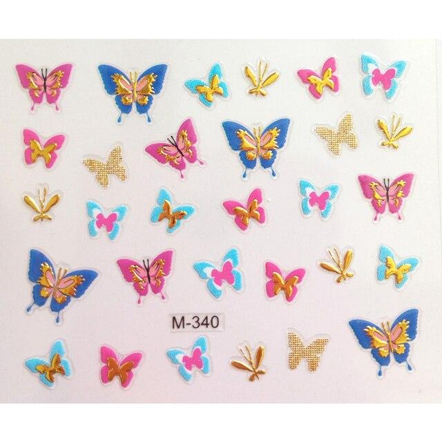 2 шт красочные гелевые наклейки для ногтей бронзовые самоклеящиеся фотография