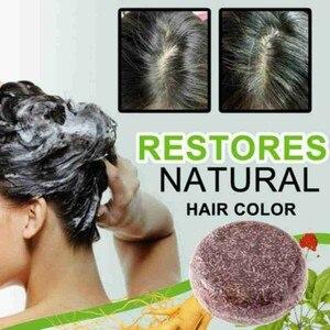 Organic Grey Reverse Shampoo Bar Bamboo Charcoal Detoxifying Foaming Solid Bar Black White Color Hair Treatment Oil Soap Shampoo