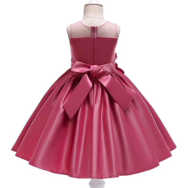 2020 פרח ציצית בנות ילדי שמלת ערב נשף כדור שמלת תלבושות תינוק ראשון הקודש שמלה עם bow vestidos דה comunion