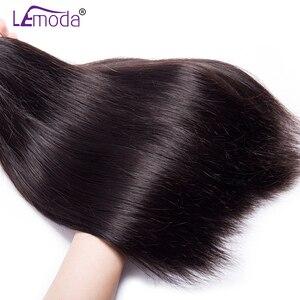 Image 3 - Proste włosy ludzkie wiązki z przednim zamknięciem brazylijskie włosy wyplata wiązki z przednim zamknięciem 100% doczepy z ludzkich włosów