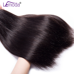 Image 3 - Straight Human Hair Bundles With Frontal Closure Brazilian Hair Weave Bundles With Frontal Closure 100% Human Hair Extensions
