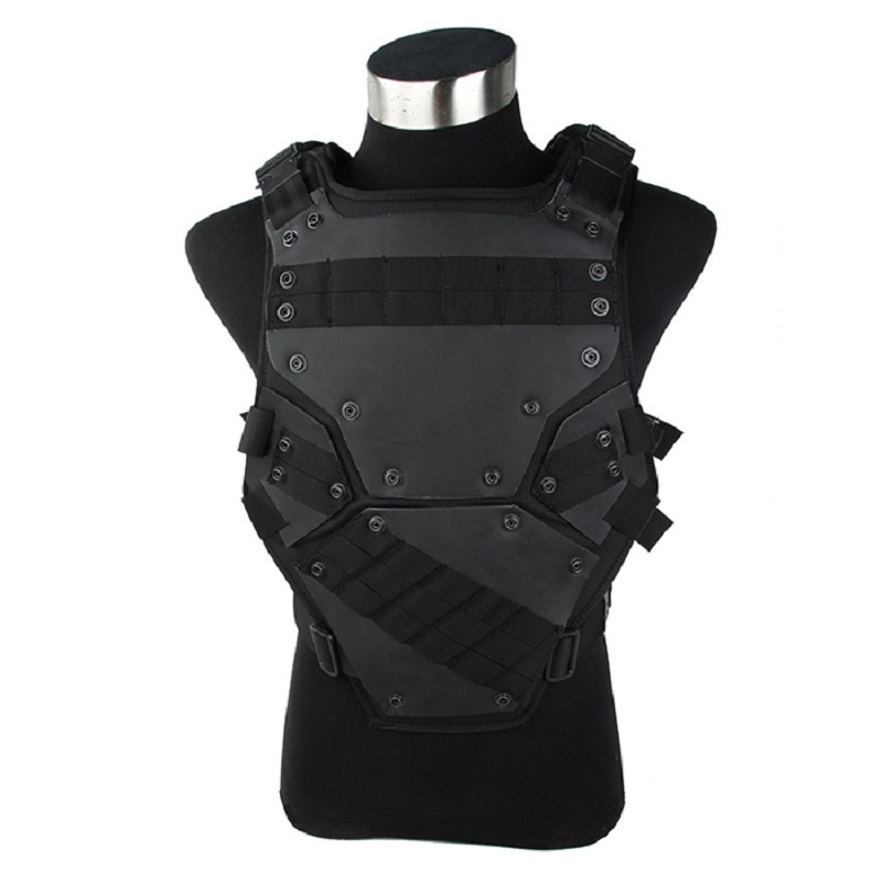 TMC1835-Black Adjustable Hunting TF3 Tactical Vest Combat Military Cosplay Army