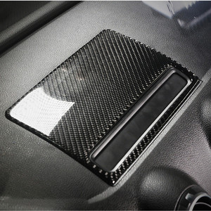 Image 1 - Carbon Fiber Center Console Navigatie Frame Cover Trim Voor Audi A3 8V 2013 2019 Dashboard Panel Decals Interieur moulding