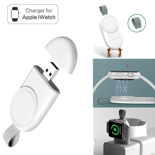 Mini Portable Wireless Charger for Apple iWatch 1 2 3 4 5 Dock Adapter Fast Charging Charger Smart Watch Wireless Charging Base 6