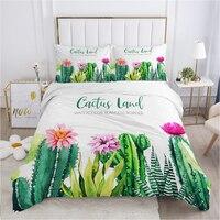 Set biancheria da letto nordico set copripiumino federa 50x75 biancheria da letto copriletto 220x240 140x200 150*200 cactus succulente