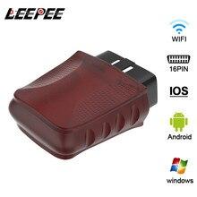 LEEPEE arayüzü adaptörü Android/PC/IOS kod okuyucu OBDII Wifi kontrol motor araba teşhis tarayıcı aracı OBD tarayıcı