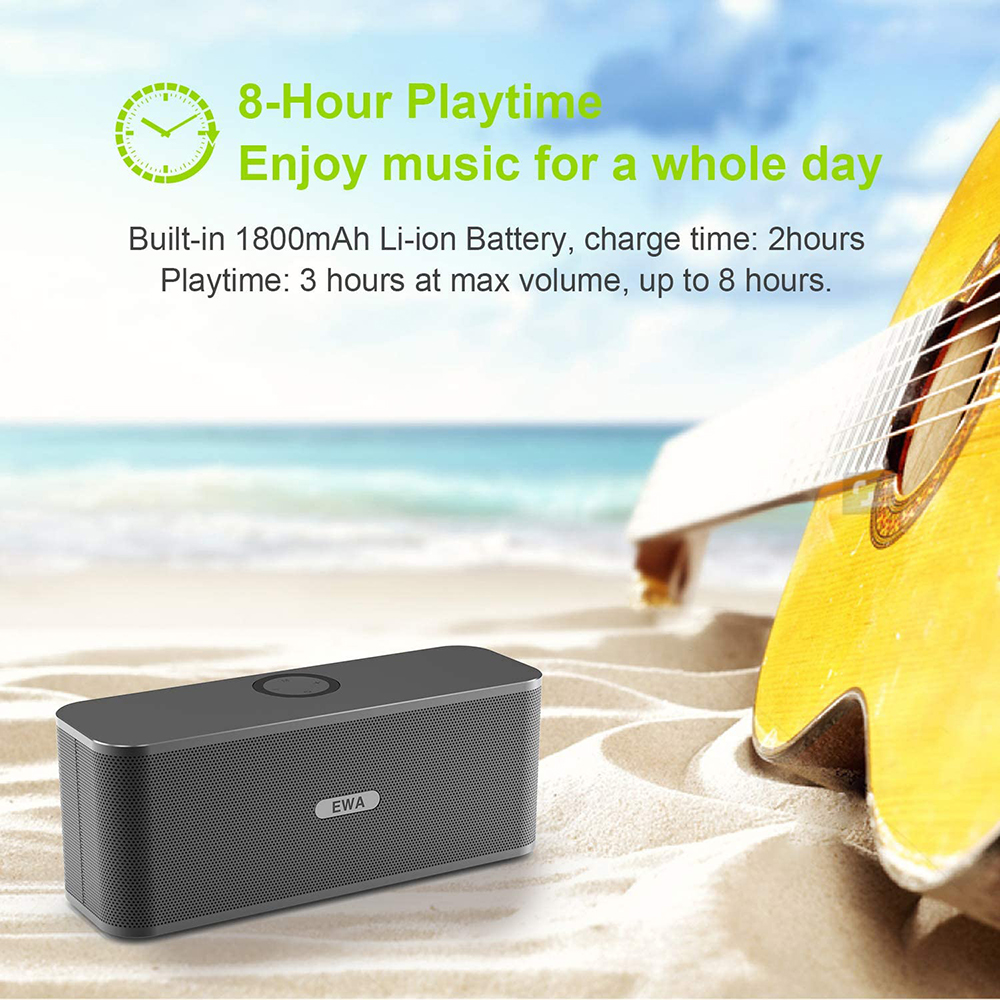 EWA W300 Bluetooth Speakers 2*6W Drivers Loud Stereo Sound 4000mAh Battery Wireless Portable Speaker For Travel Outdoor Party 5