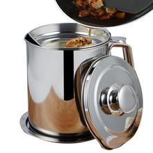 1100 ml wielofunkcyjny 304 ze stali nierdzewnej sos oleju zupa tłuszczu Separator smar olejarka filtr siatkowy miska kuchnia narzędzia kuchenne