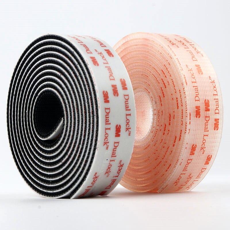 3M Velcros Adhesive Fastener Tape Dual Lock 25.4mm Width Sj3560 Mushroom Reclosable VHB Self-Adhesive Transparent Magic Tape
