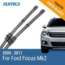 SUMKS Wischer Klingen für Ford Focus Mk2 Fließheck/Immobilien/Cabrio/Limousine/C Max 2005 2006 2007 2008 2009 2010 2011