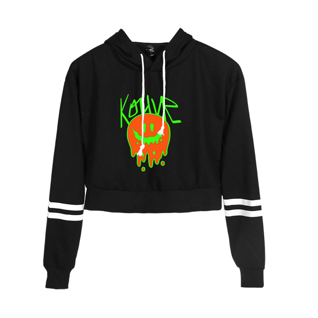 KOUVR ANNON THEMED CROP TOP HOODIE (25 VARIAN)