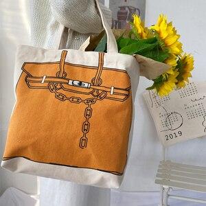 Image 5 - Youda conception originale mode impression grande capacité sac à main Style classique dames sac à provisions décontracté Simple femmes fourre tout