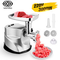 WARMTOO 3000W Electric Meat Grinders Stainless Steel Meat Mincer Sausage Stuffer Maker with Powerful Motor/Blade Home Appliance|Meat Grinders| |  -