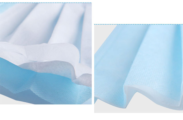 10 PCS/bag 3-layer non-woven dust mask thickened disposable mask for civilian use 2