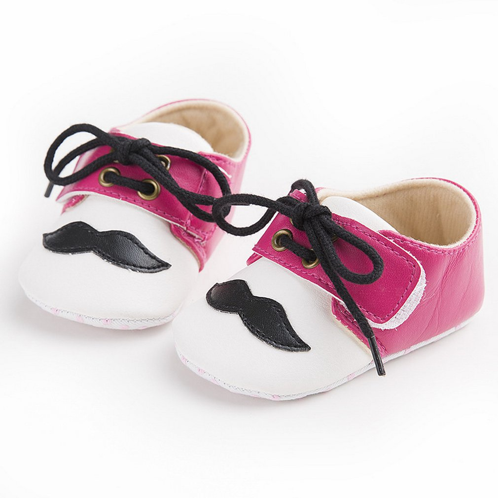 Beard Pattern Newborn Baby Girls Boys Comfortable Shoes Lace-up Newborn Baby Toddler First Walkers Tollder Canvas Shoes