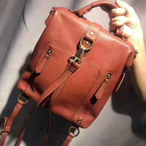 Image 2 - Dual use Women Ladies Cowhide Backpacks for Teenage Girls Retro Classic Genuine Leather Female School Shoulder Bag Pack Mochila
