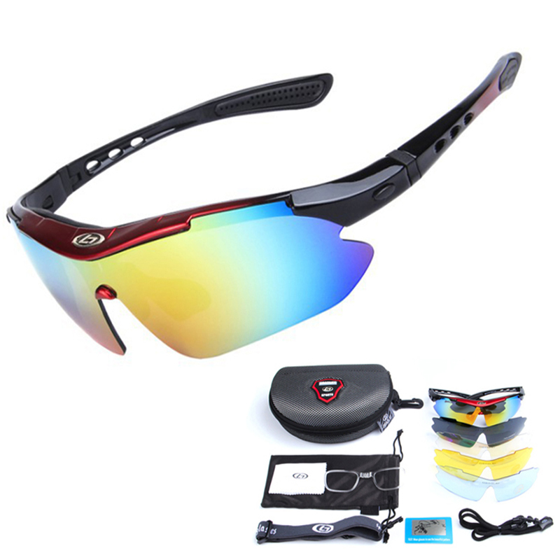 Sport MTB Goggles Sunglasses Bicycle-Eyewear Bike Polarized Cycling 5-Lens 13pcs/Set title=