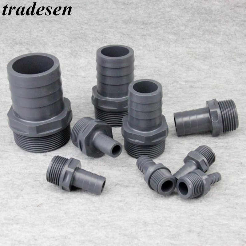 "1pcs 1/2 ""-1"" Filettatura Maschio A 8-30mm Pagoda Connettore Hi-quality Soft tubo di acqua Connettore UPVC Raccordi Tubo di Irrigazione Parti"