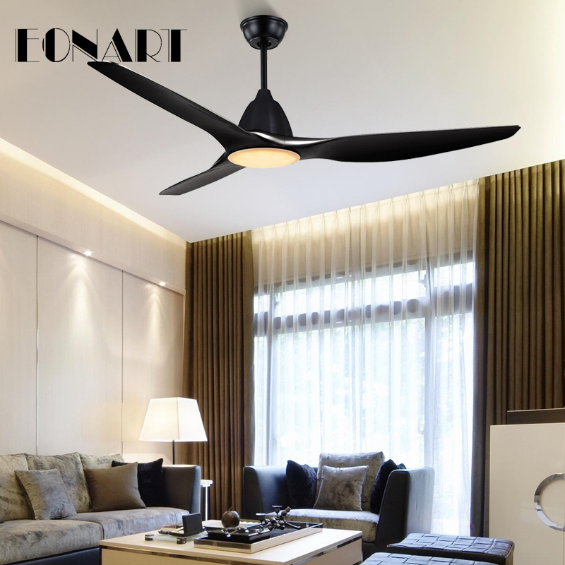Eonart 60inch Fashion Led Dcdecorate Ceiling Fan Lamp With Remote Control Industrial Chandelier With Fan Blade Fans For Home