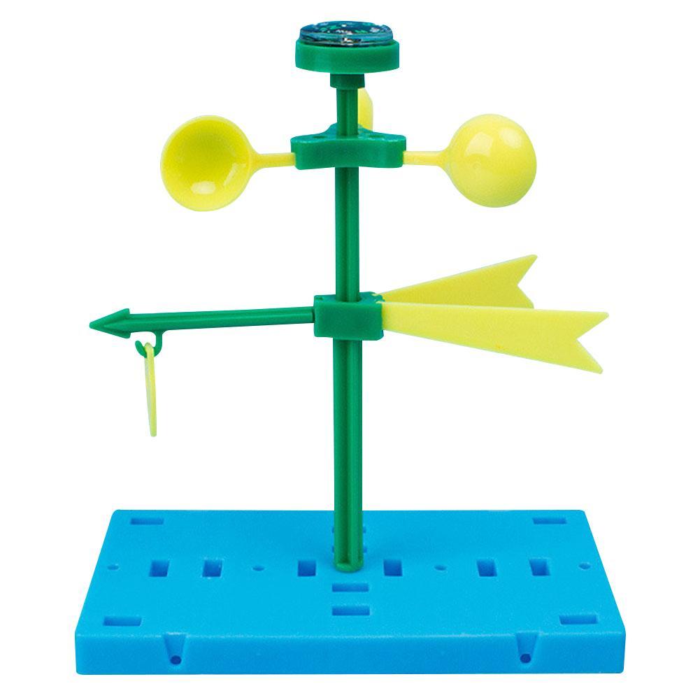 Weathervane-Juguetes de plástico para niños, tecnología educativa de aprendizaje de energía eólica Manual de ciencia, juguete intelectual