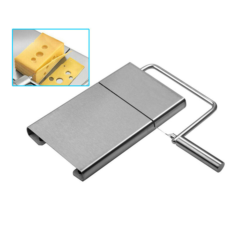 1Pcs New Stainless Steel <font><b>Cheese</b></font> <font><b>Slicer</b></font> Tool <font><b>Cheese</b></font> <font><b>Slicer</b></font> <font><b>Wire</b></font> Cutter With Serving Board for Hard Semi Hard <font><b>Cheese</b></font> Butter image