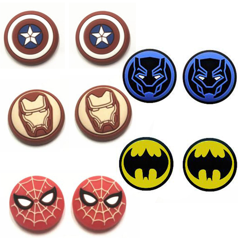 New Spider Iron Man Thumb Stick Grip Cap Thumbstick Joystick Cover Case For Sony PS3 PS4 Slim Xbox One 360 Switch Pro Controller(China)