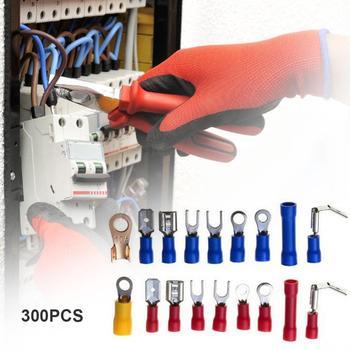 Kit de terminales eléctricos de 300 Uds. Conectores de cables en frío con caja suministros de equipos eléctricos