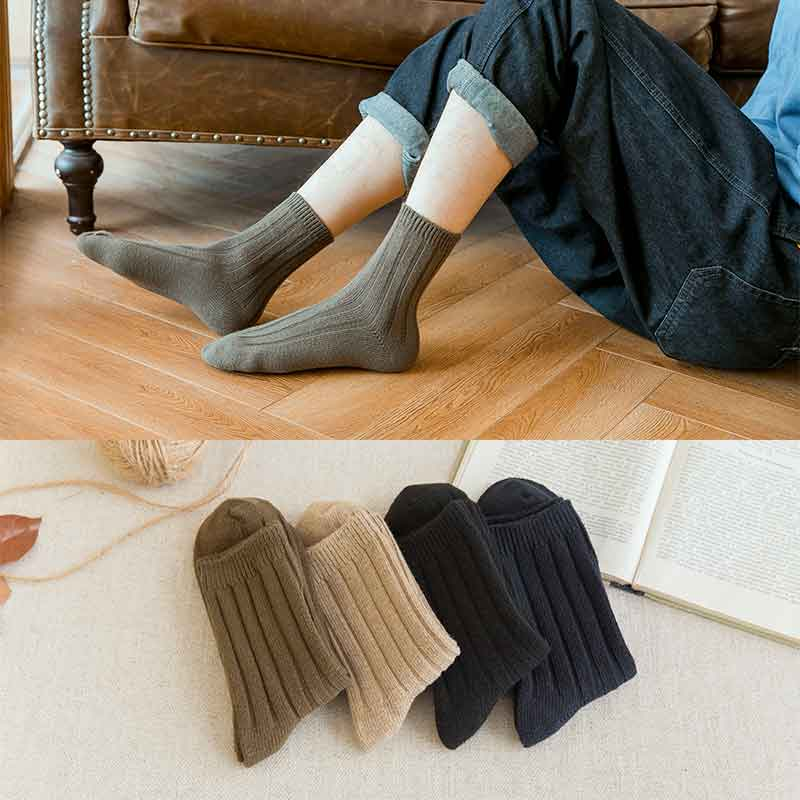Winter Socks Men Happy Ankle Cotton Black Gifts For Men Fashion Thick Sports Streetwear Fashions Work Striped Funky Brand Autumn