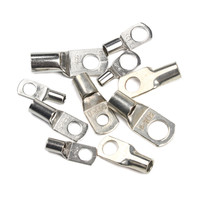 100Pcs SCTinned Copper Lug Ring Wire Connectors for Battery Bare Cable Electric Wire Crimp Terminal|Terminals| |  -