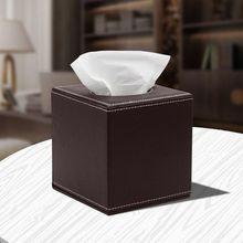 2 цвета, квадратная коробка для салфеток из искусственной кожи для лица, держатель для салфеток, диспенсер для бумажных полотенец, контейнер для домашнего офиса