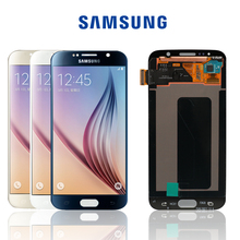 Orijinal 5.1 Samsung Galaxy S6 G920 G920i G920F G920W8 LCD süper AMOLED değiştirme ile dokunmatik ekran Digitizer