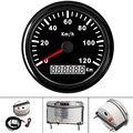 Водонепроницаемый 85 мм мотоцикл GPS измеритель скорости 120KMH цифровой gps-датчик  автомобильный измеритель скорости  универсальный для лодки а...