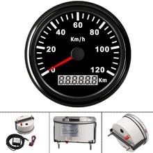مقاوم للماء 85 مللي متر نظام تحديد المواقع العالمي للدراجات البخارية عداد السرعة 120KMH الرقمية لتحديد المواقع مقياس متر سيارة سرعة مقاييس العالمي ل قارب سيارة شاحنة 12 فولت 24 فولت