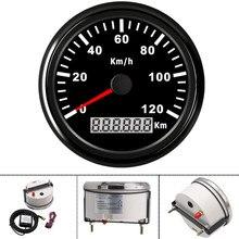 Wodoodporny 85mm motocykl prędkościomierz GPS 120KMH cyfrowy miernik GPS miernik prędkość samochodu wskaźniki uniwersalny dla łodzi samochód ciężarówka 12V 24V